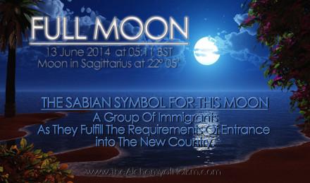 Full Moon in Sagittarius on 13 June 2014