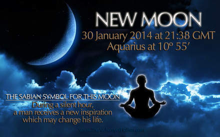 Our January 30th 2014 New Moon - a second New Moon