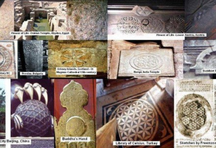 Flower of Life geometry in ancient cultures.